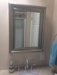 flush mount medicine cabinet medicine cabinet disguised as a mirror from lowes decor ideas