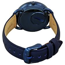 Igloo Dog Bed Fossil Tailor Blue Dial Ladies Watch Es4092 Ebay
