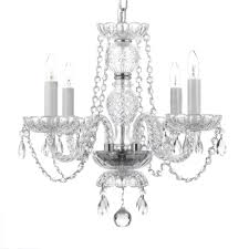 White Murano Chandelier by 4 Light Venetian Style Empress Crystal Chandelier T40 407 The
