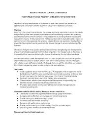 Sample Resume For Finance Accounting Controller Cover Letter