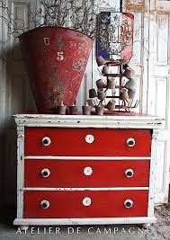 Red Shabby Chic Furniture by Distress A Chest With Classic Autentico Vintage Chalkpaint In