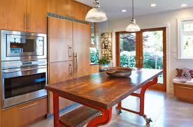 kitchen shocking decorating ideas using brown wooden barstools