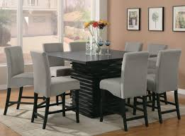 Dining Tables   Piece Square Dining Set  Piece Farmhouse Dining - Dining table dimensions for 8 seater