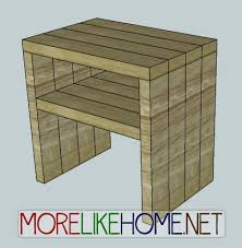 more like home day 25 build a simple modern nightstand