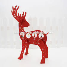 wooden deer decoration wooden deer decoration