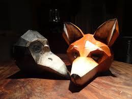 crow mask halloween diy halloween masks fox mask bird mask instant download