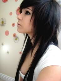 hairstyles lond front short back with bangs 30 groovy emo girl hairstyles slodive