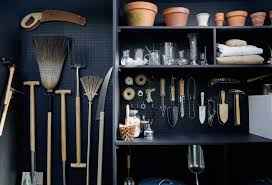 how to hang tools in shed a new use for chalkboard paint toolshed makeover garden edition