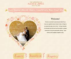 free wedding websites with creating the wedding website how to get started