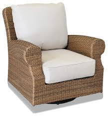 Sunset West Outdoor Furniture Santa Cruz Swivel Rocking Club Chair With Cushions Tropical