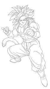 13 pics of goku ssj4 coloring pages how to draw goku ssj4 full