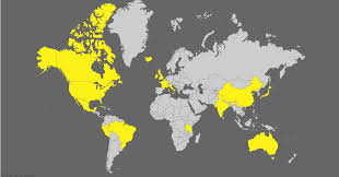 visited states map countries where the simpsons visited states map and source