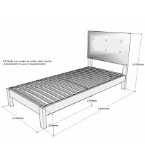 White Small Double Bed Frame by Sanderson Small Double Solid Oak Bed With Integrated Upholstered