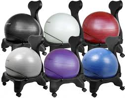 Yoga Ball Desk Chair by Adjustable Back Exercise Yoga Ball Office Chair Pictures 12