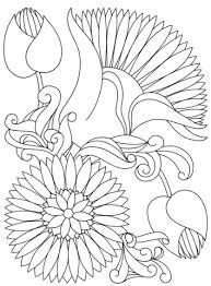 dibujo flores abstractas colorear dibujos colorear