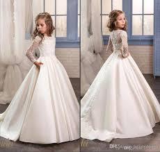 white dress wedding princess white lace flower dresses for wedding 2018 sheer