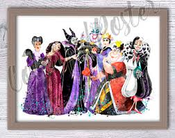 kids party halloween clipart u2013 disney villain etsy