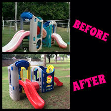 repaint little tikes play set before and after i used krylon