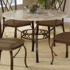 Round Dining Room Table And Chairs Round Dining Table With Fossil Stone Top By Hillsdale Wolf And
