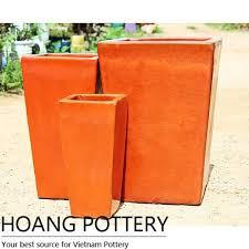 tall glazed ceramic pot hpan056 hoang pottery