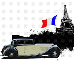 vintage cars clipart vintage car of 1940s near eiffel tower in paris vector clipart
