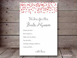 bridal shower wish wishes for the and groom printabell create