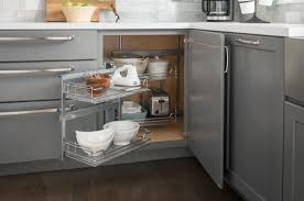 blindet storage solutions and rev shelf corner magic kitchen rack