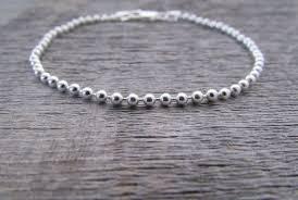 chain bracelet sterling silver images Sterling silver ball chain bracelet 7 inch chain 2mm chain jpg