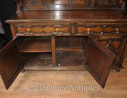 Antique Server Buffet by Antique Oak Jacobean Sideboard Server Buffet Kitchen Furniture Ebay