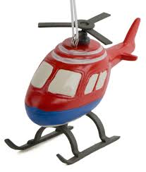 and blue helicopter ornament mypilotstore