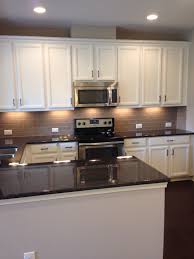 Subway Tile Backsplash White Cabinets My New Kitchen White Cabinets Tan Subway Tile Backsplash Suede