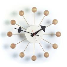 Design Clock by Vitra Ball Clock By George Nelson 1948 Designer Furniture By