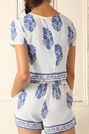 matching sets bohemian boxy crop top shorts matching set oasap