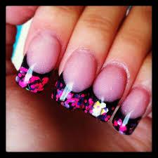 neon glitter acrylic nails image information