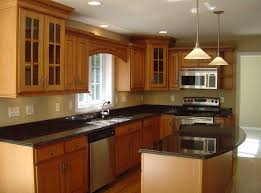 dark cream wall paint colors for small kitchens with brown cabinet