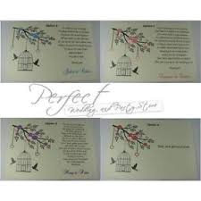 ivory wedding inserts money gift poem personalised cards bird cage