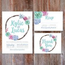 Succulent Wedding Invitations 48 Best Wedding Invitations Images On Pinterest Design Studios