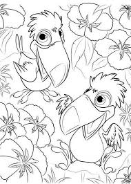 rafael kids toco toucan birds rio movie coloring pages