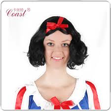 curly halloween wigs snow white princess cosplay wig black curly queen hair products