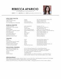 Musical Theater Resume Best Acting Resume Template Acting Resume Template Is Very Useful