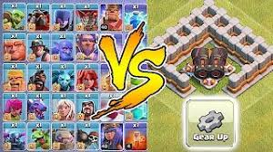 clash of clans all troops et télécharger all troops vs geared up cannon who will win