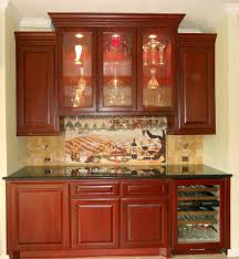 Traditional Kitchen Backsplash Interior Design Mosaic Tile Backsplash With White Kraftmaid