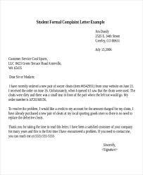 complaint letter example sample consumer complaint letter 30