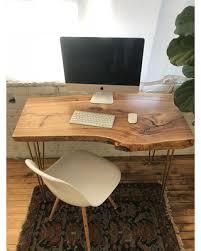 live edge computer desk deal alert contemporary work desk live edge rustic industrial table