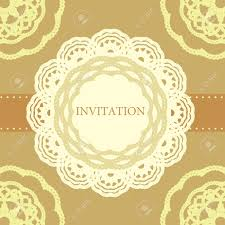 Invitation Card Cover Vintage Invitation Card Template Frame Design For Card Royalty