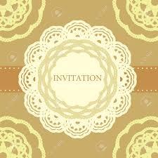 Cover Invitation Card Vintage Invitation Card Template Frame Design For Card Royalty