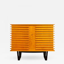 e verot et r clement sycamore wood storage buffet by e verot