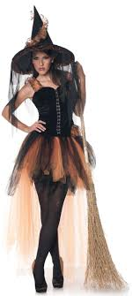 witch costumes witch costume for women in orange and black costumes