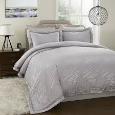 Jacquard Bedding Sets Simple Opulence Yarn Dyed Bamboo Poly Silk Cotton