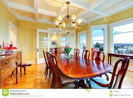 luxury dining room golden bright yellow luxury dining room with elegant classic